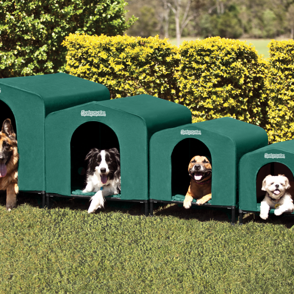 Houndhouse canvas dog kennel for Building a dog kennel business